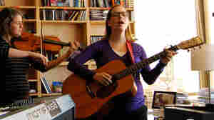 Laura Veirs performing a Tiny Desk Concert.