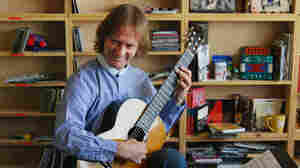 Classical guitarist David Russell performing a Tiny Desk Concert at the NPR Music offices.