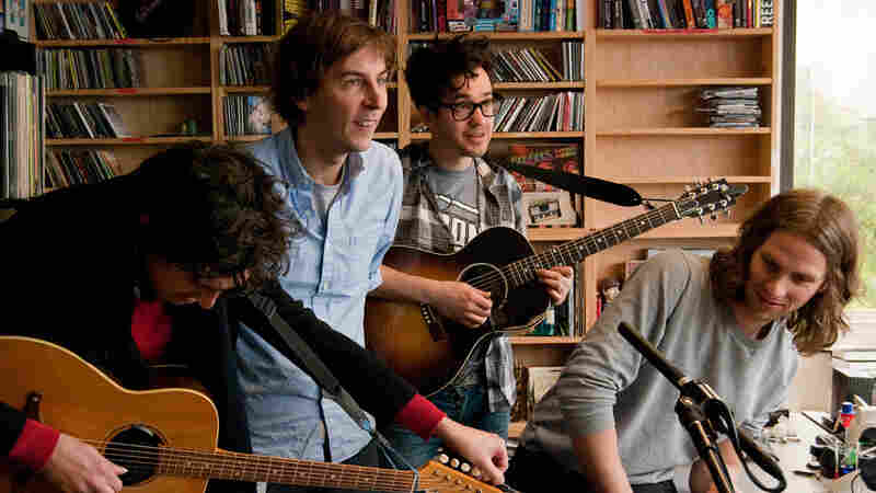 Phoenix performs a Tiny Desk Concert at the NPR Music offices.