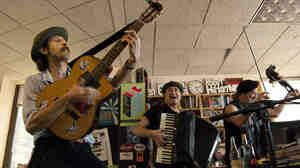 Gogol Bordello performs a rousing Tiny Desk Concert at the NPR Music offices.