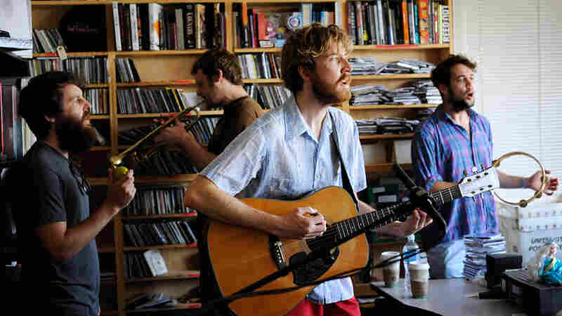 Lawrence Arabia performs a Tiny Desk Concert at the NPR Music offices.