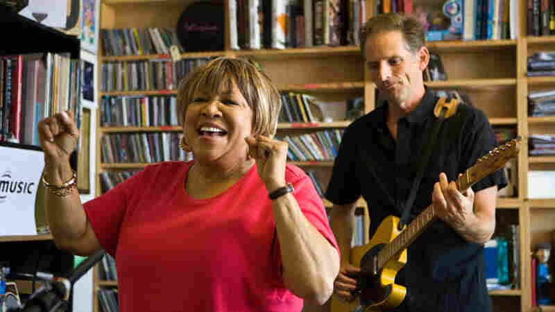 Mavis Staples performs a Tiny Desk Concert at the NPR Music offices.
