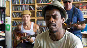 Seu Jorge performs a Tiny Desk Concert at the NPR Music offices.