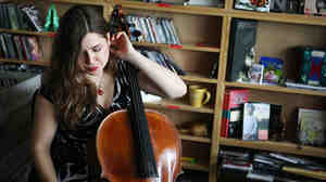 Alisa Weilerstein performs a Tiny Desk Concert at the NPR Music offices.