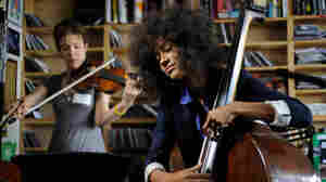 Esperanza Spalding performs a Tiny Desk Concert at the NPR Music offices.