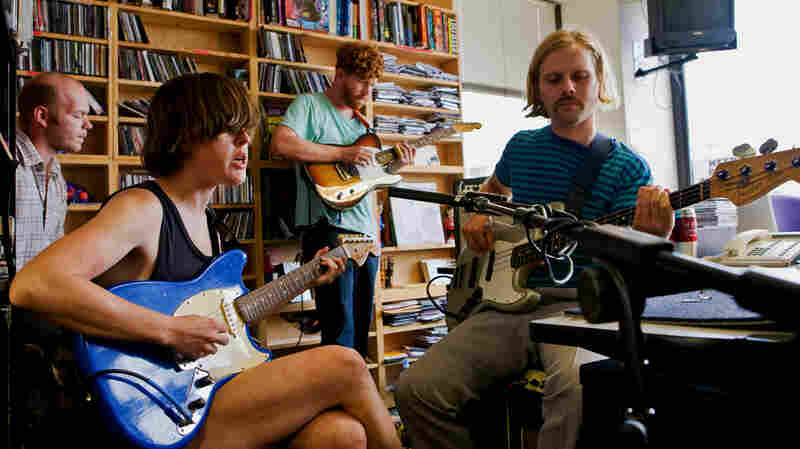 Lower Dens perform a Tiny Desk Concert in the NPR Music offices.