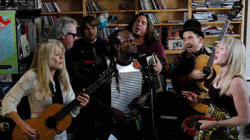 Tom Tom Club performs a Tiny Desk Concert at the NPR Music offices.