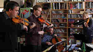 Turtle Island Quartet performs a Tiny Desk Concert at the NPR Music offices.