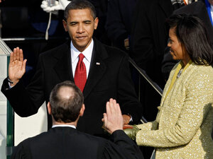 Barack Obama is sworn in as the 44th president by Supreme Cou