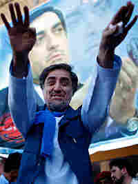 Abdullah Abdullah during a campaign event in Herat, Afghanistan this week.