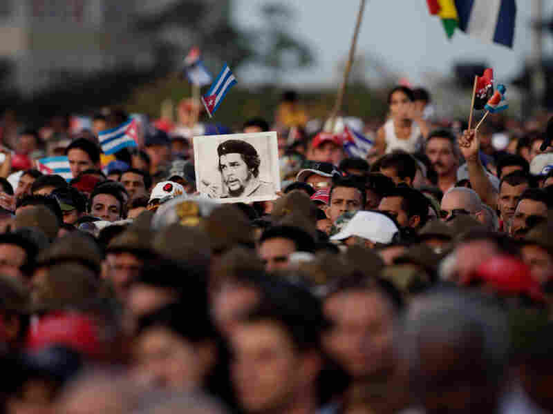 Demonstrators at a rally in northeast Cuba