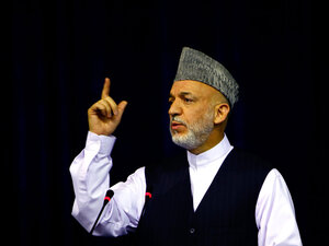 President Hamid Karzai is under pressure