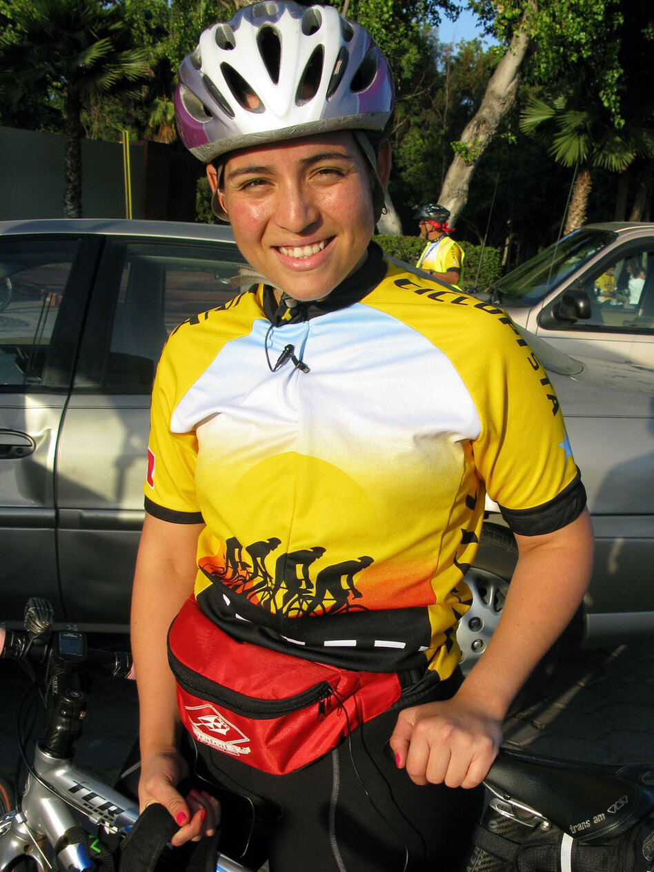 Saida Perez, 27, recently moved across the border to San Diego, but she still comes back every week for the ride.