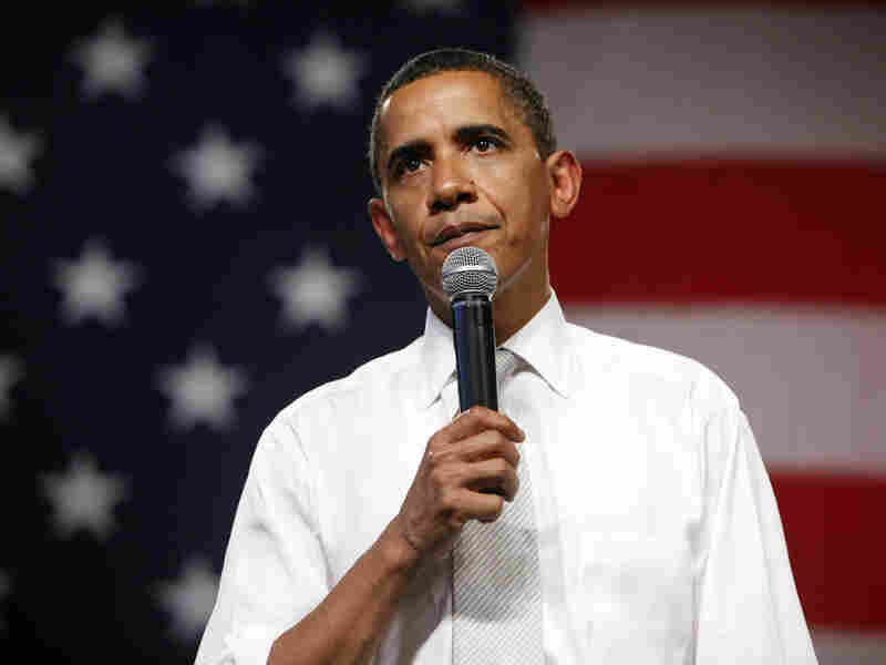 President Obama speaks during a town hall meeting on health care.