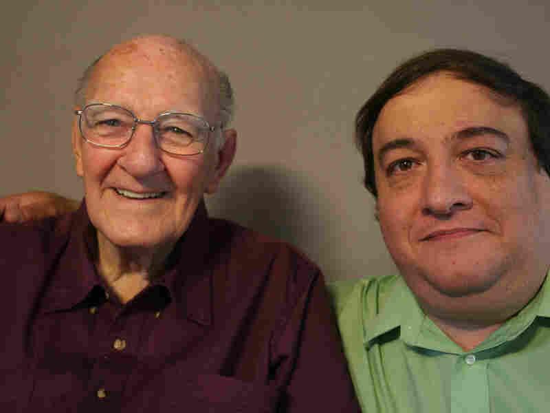 Robert Panara, 89, talks with his friend Greg Livadas about baseball.