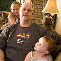 Jeffrey Rubin at his home in Philadelphia, with his daughters Taryn, 4 (front) and Lexie, 9.