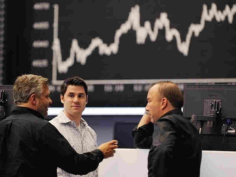 Stock traders in Germany