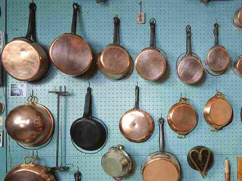 Julia Child's pots and pans