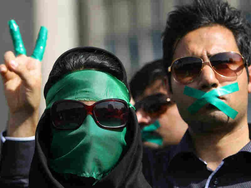 Supporters of opposition leader Mir Hossein Mousavi,