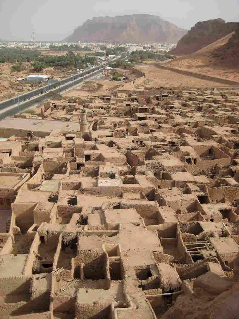 The old mud-brick town of Al Ula