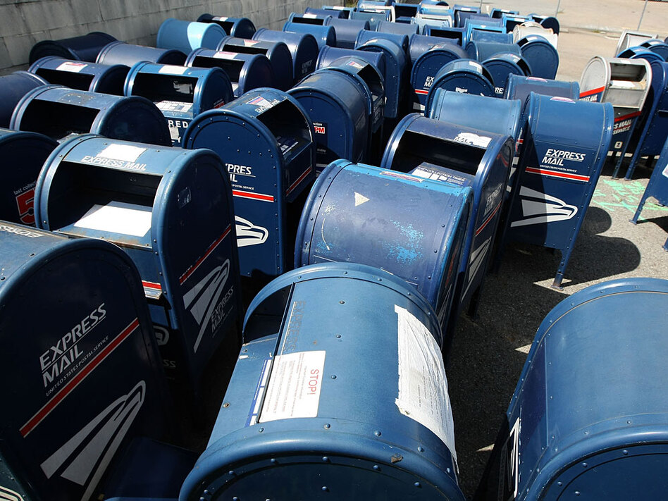 Dozens of retired mailboxes sit in a parking lot at the U.S. Post Office sort center March 25, 2009 in San Francisco, Calif.  Postmaster General John Potter told the House Oversight post office subcommittee that the U.S. Postal Service will run out of money this year unless they are permitted to cut mail delivery to five days a week and are able to implement changes in how they payout retiree health care.
