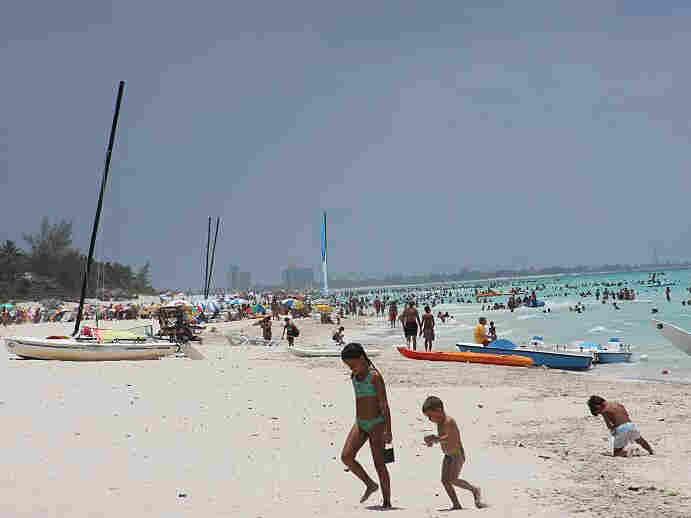 A beach resort at Varadero, Cuba