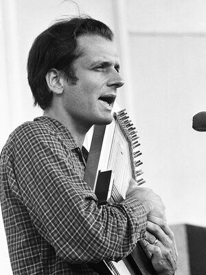 Mike Seeger plays at the Newport Folk Festival on July 20, 1966.