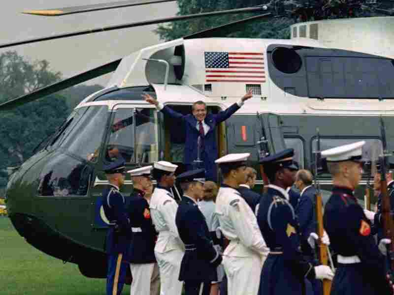 Nixon leaves office, Aug. 9, 1974.