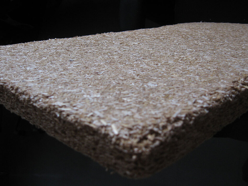 A close-up of the insulation.