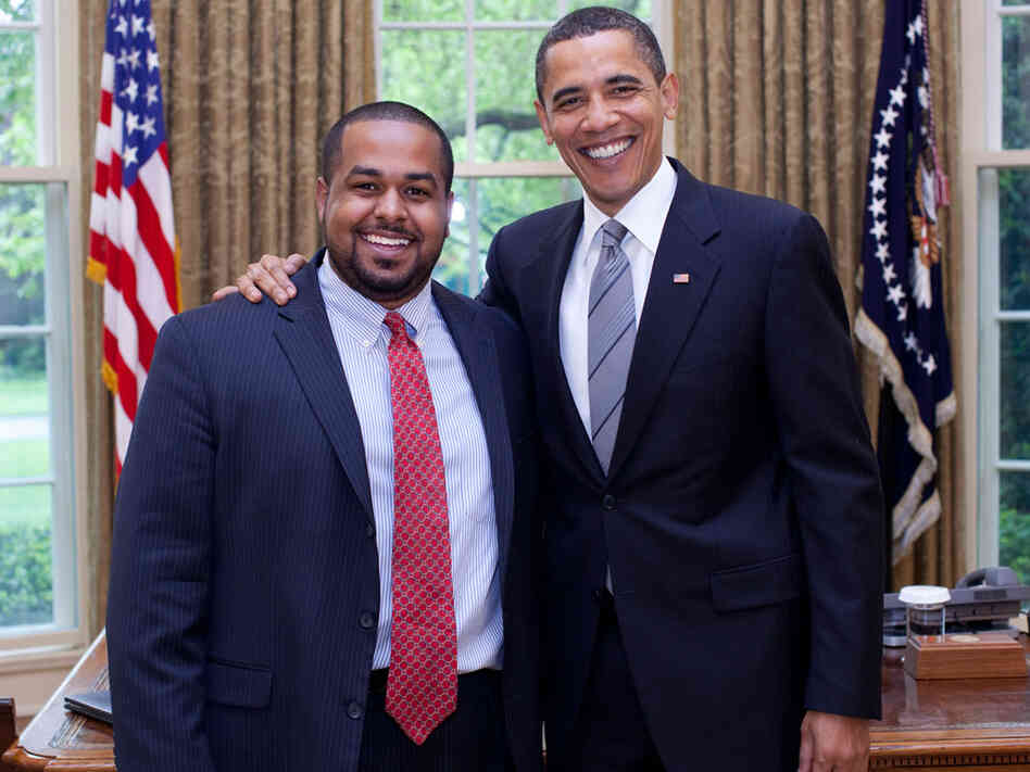 Joshua DuBois with President Obama at the White House