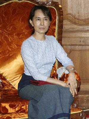 Pro-democracy leader Aung San Suu Kyi