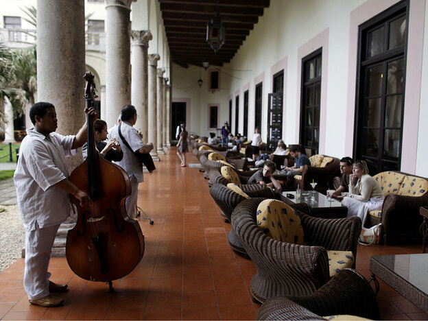 Musicians perform for tourists at the Hotel Nacional in Havana. The historic hotel was built in 1930 and modeled after the Breakers Hotel in Palm Beach, Fla.