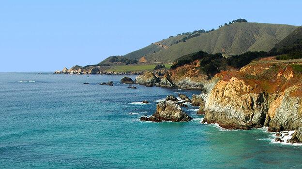The Monterey Bay coastline, Northern California.