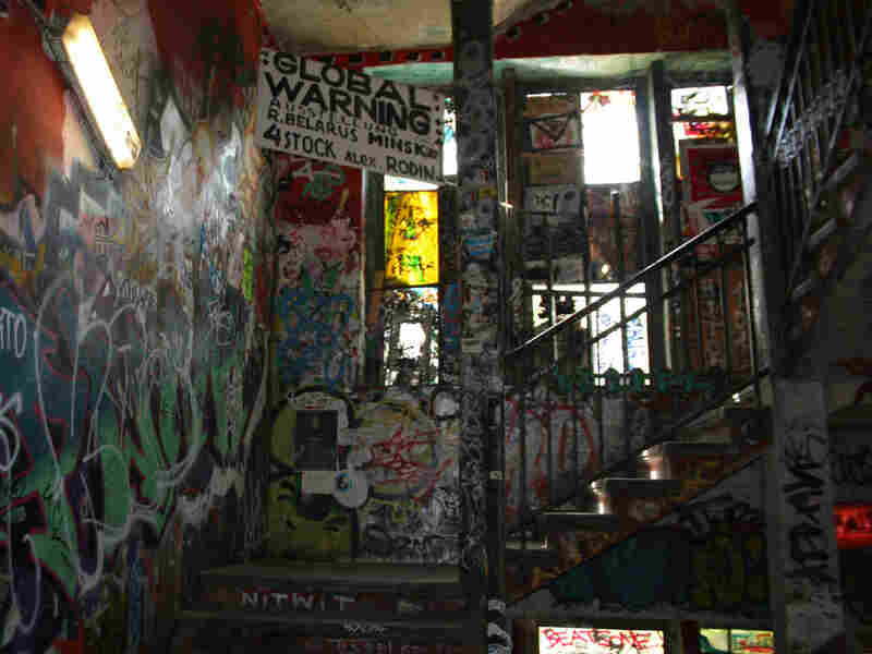Grafitti on walls of Tacheles artist community