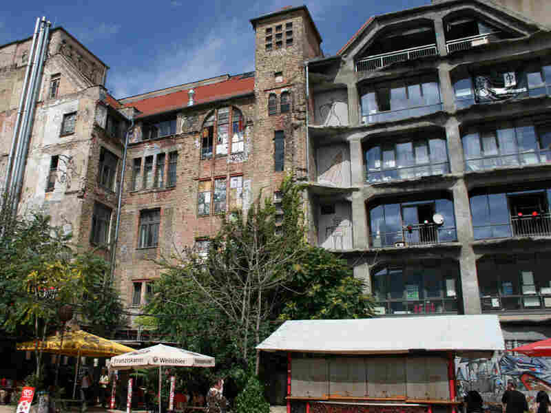 The exterior of the Tacheles art collective in Berlin