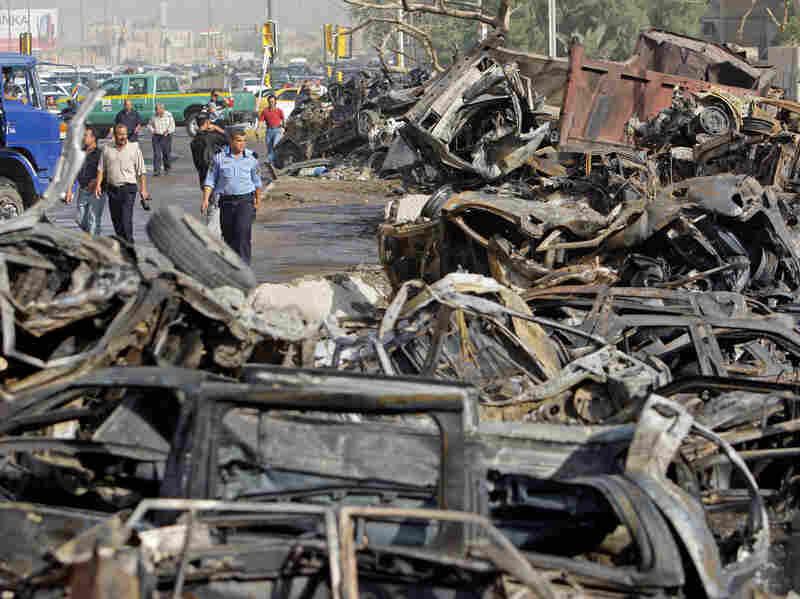 destroyed cars