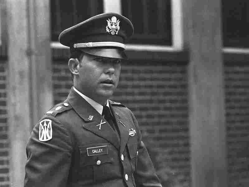 Lt. William L. Calley Jr. in April 1971, during his court-martial at Fort Benning, Ga.