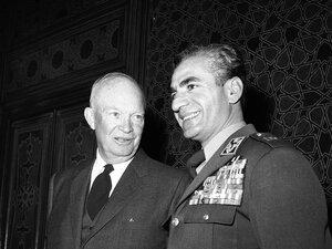 President Dwight D. Eisenhower (left) and Shah Mohammed Reza Pahlavi of Iran in 1959