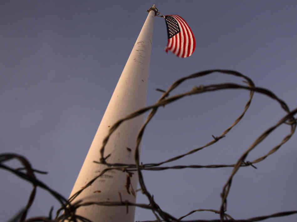 Flag pole near the US-Mexico border