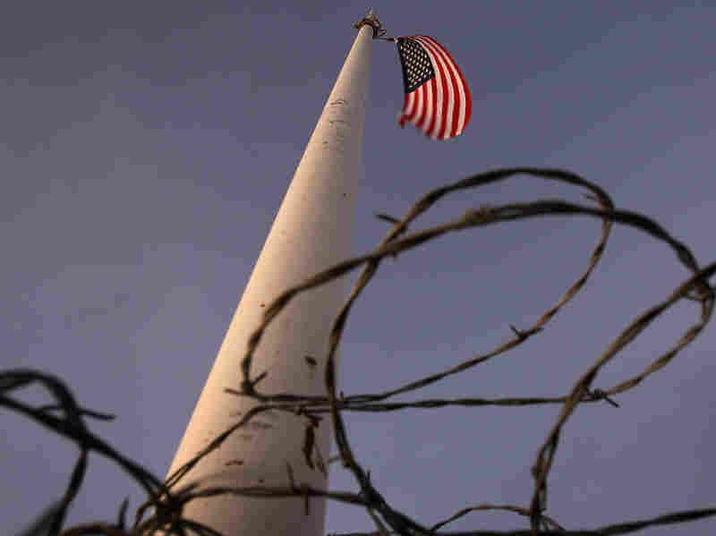 Flag pole near the US-Mexico border
