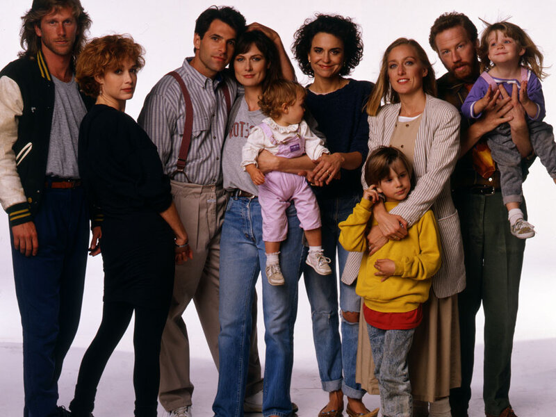 the cast of thirtysomething reflects - A Christmas Blessing Cast