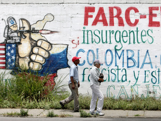 Anti-U.S. grafitti in Venezuela
