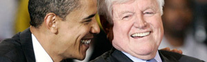 Sen. Barack Obama with Sen. Ted Kennedy (promo)