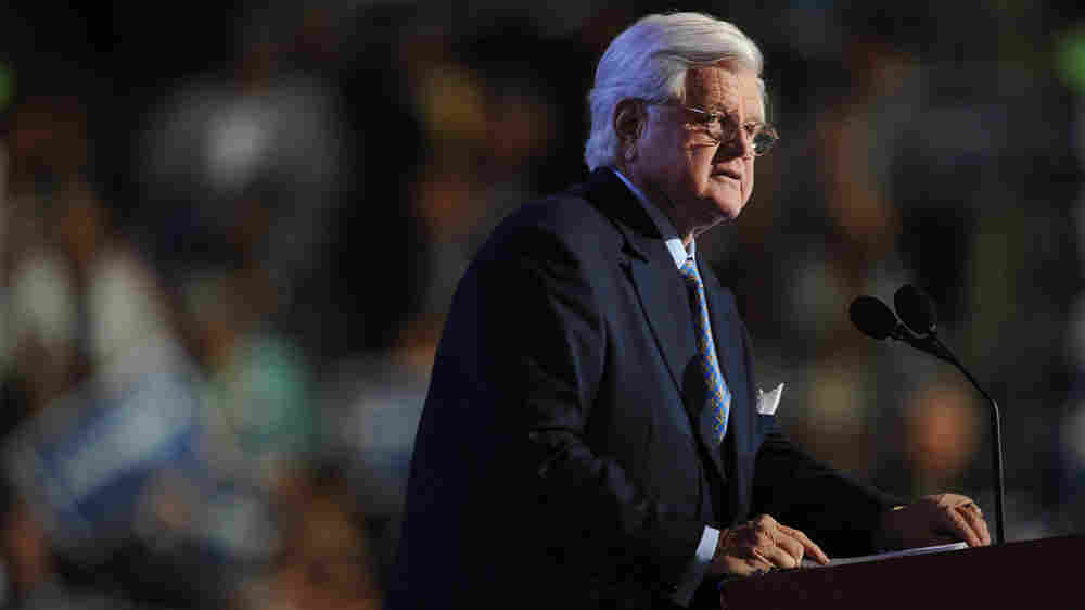 Wide: Sen. Edward Kennedy addresses the 2008 Democratic National Convention
