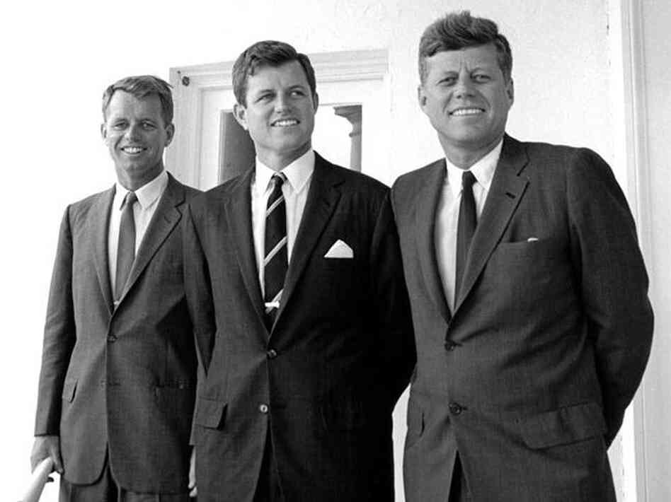 President Kennedy and his brothers Robert and Sen. Edward Kennedy in 1963