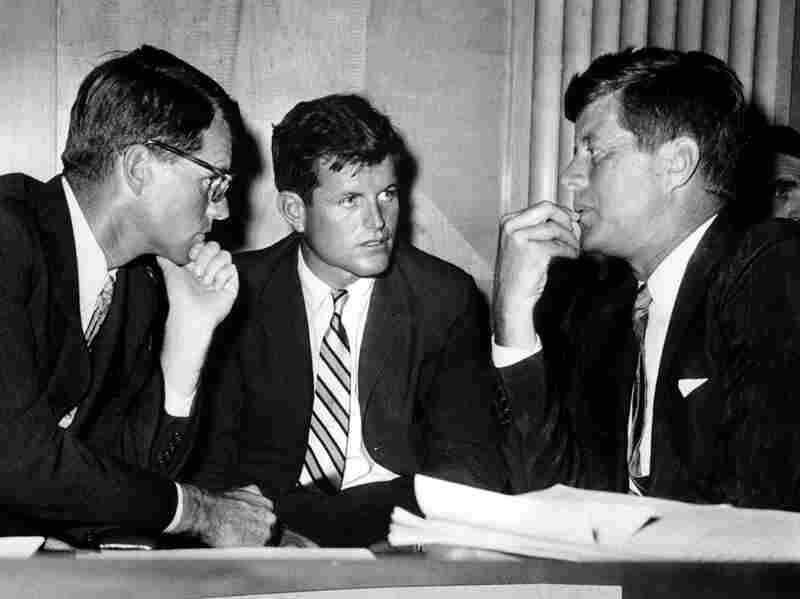 Edward Kennedy, center, and his brothers, Robert Kennedy, left, and John F. Kennedy in 1959.