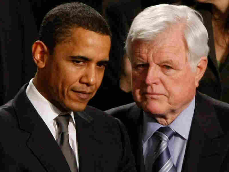 President Obama and the late Sen. Edward Kennedy