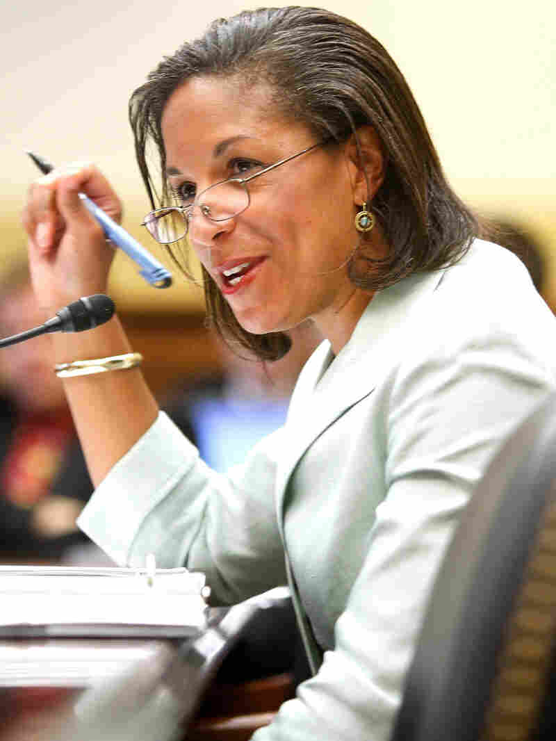 t - U.S. Ambassador to the United Nations Susan Rice testifies on Capitol Hill.