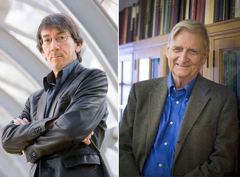 Will Wright (left) and E.O. Wilson share an interest in ants and games.