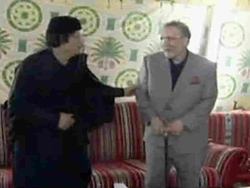Libyan leader Moammar Gadhafi and freed Lockerbie bomber Abdel Baset al-Megrahi.
